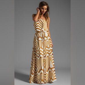 BB Dakota IMELDA Golden Pyramid Maxi Dress